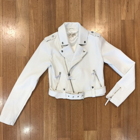 Chiodo in Pelle  bianco Twinset