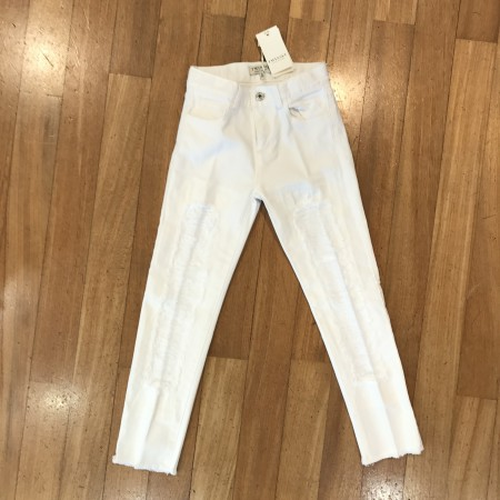 Jeans  bianco Twinset con strappi