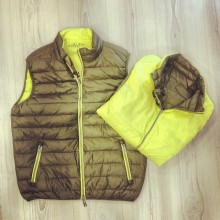 sleeveless quilted down jacket rev. 40weft