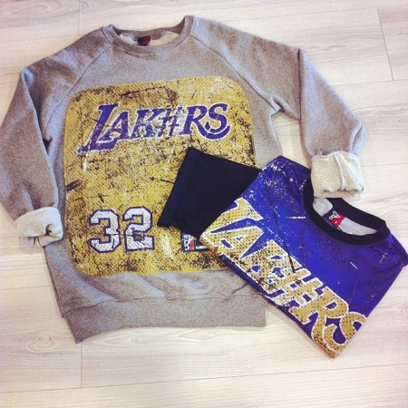 felpa Lakersminimarket betpet grigio