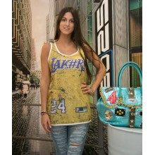 vintage print tank top lakers