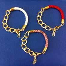 Braided bracelets different colors