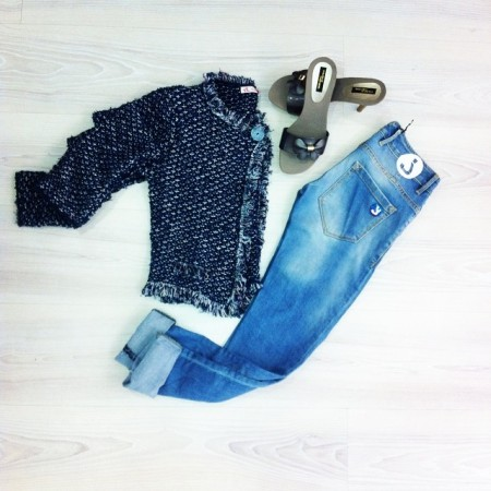 giacca chanellina trapuntata
