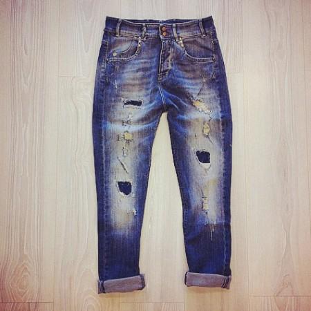 Jeans strappato jcolor