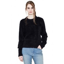 Crew Neck Sweatshirt with syntetic fur