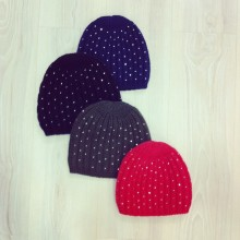 Beanies different colors with tiny rhinestones added