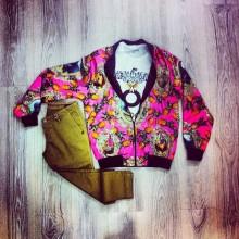 giacchetto con zip a fantasia ttrend