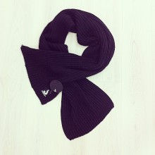 Long scarf double layer j color.