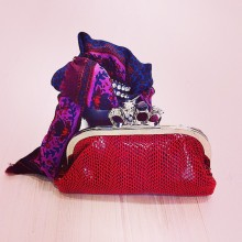 Clutch Red faux fantasy