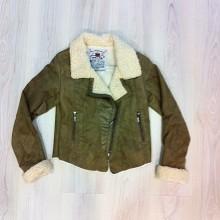 Sheepskin vest with brown hair inside