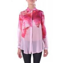 Camicia stampa fiori rosa